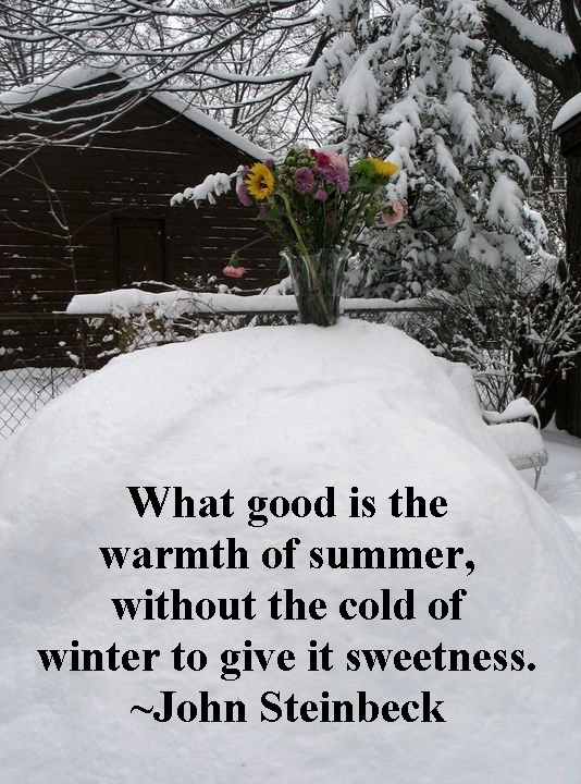 Summer in Winter Quote - Two Women and a Hoe®