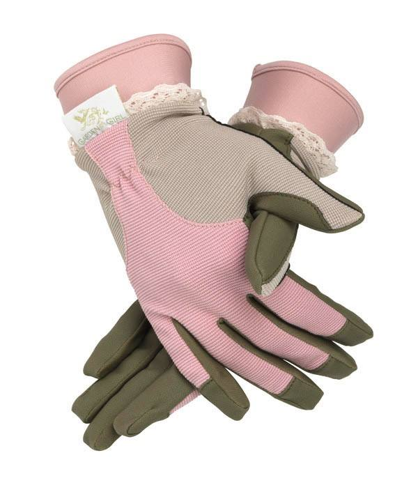 Garden gloves two women and a hoe for Gardening gloves ladies